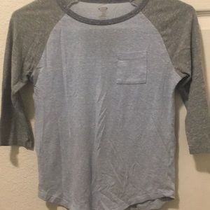 Blue and grey shirt